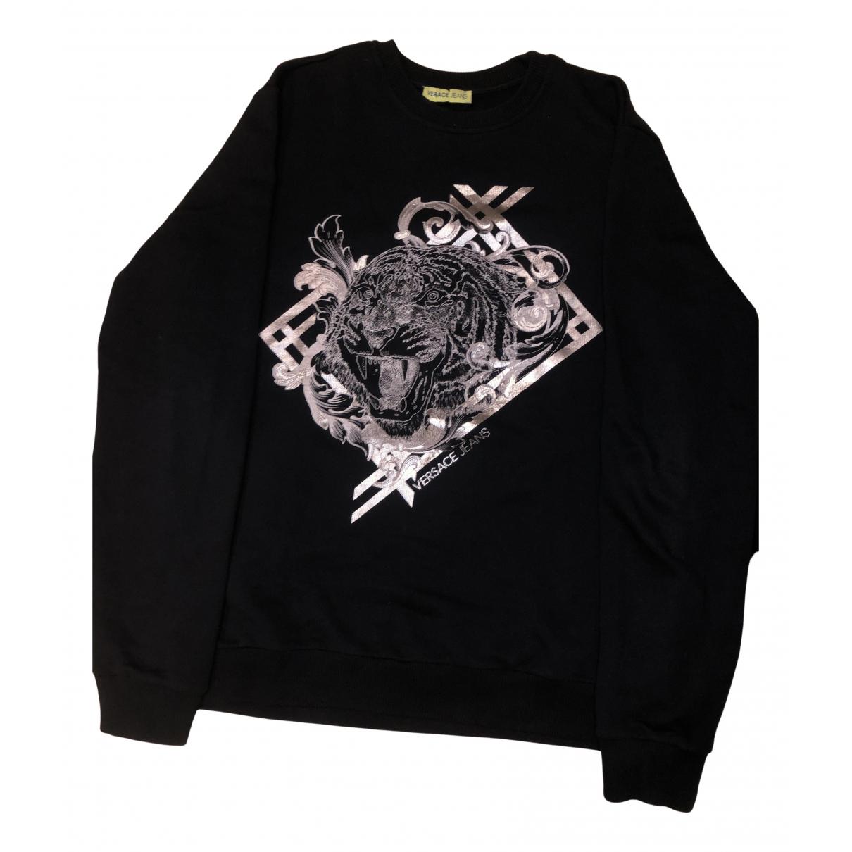 Versace Jeans \N Pullover.Westen.Sweatshirts  in  Schwarz Baumwolle