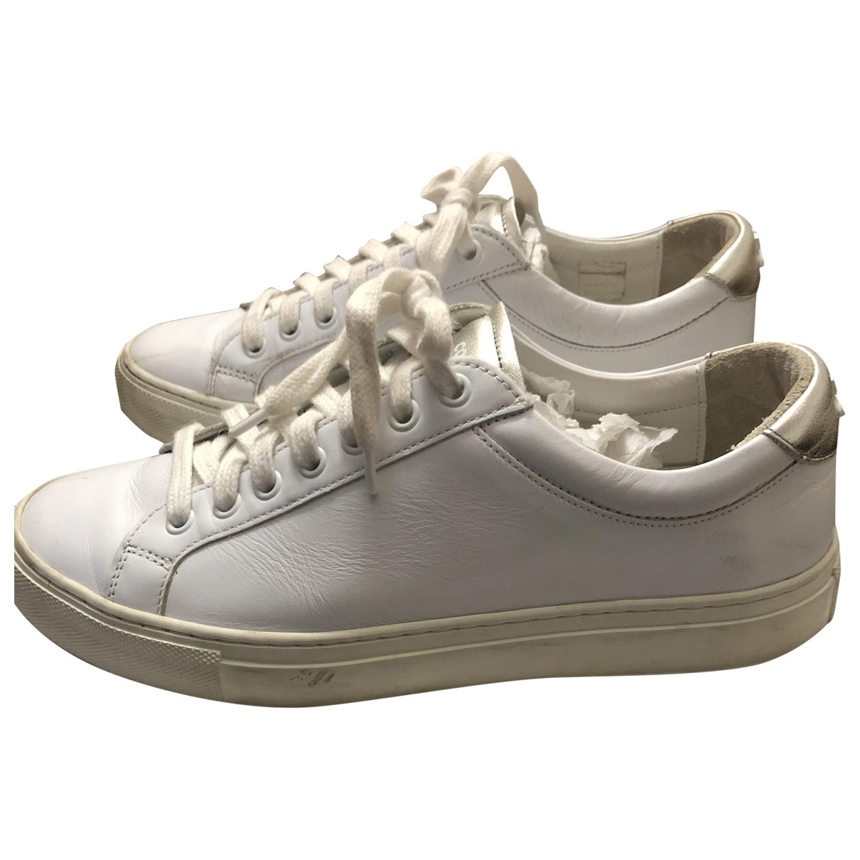 Courrèges \N White Leather Trainers for Women 38 EU