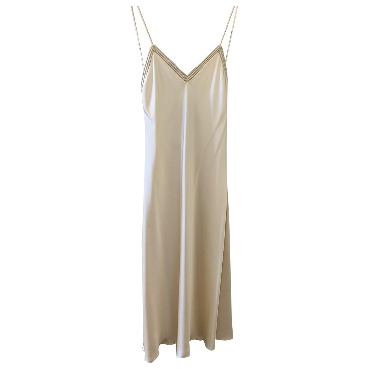 Ralph Lauren Collection \N Kleid in  Beige Seide