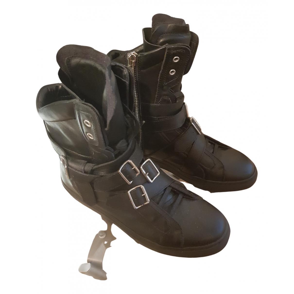 Dsquared2 - Baskets   pour homme en cuir - noir