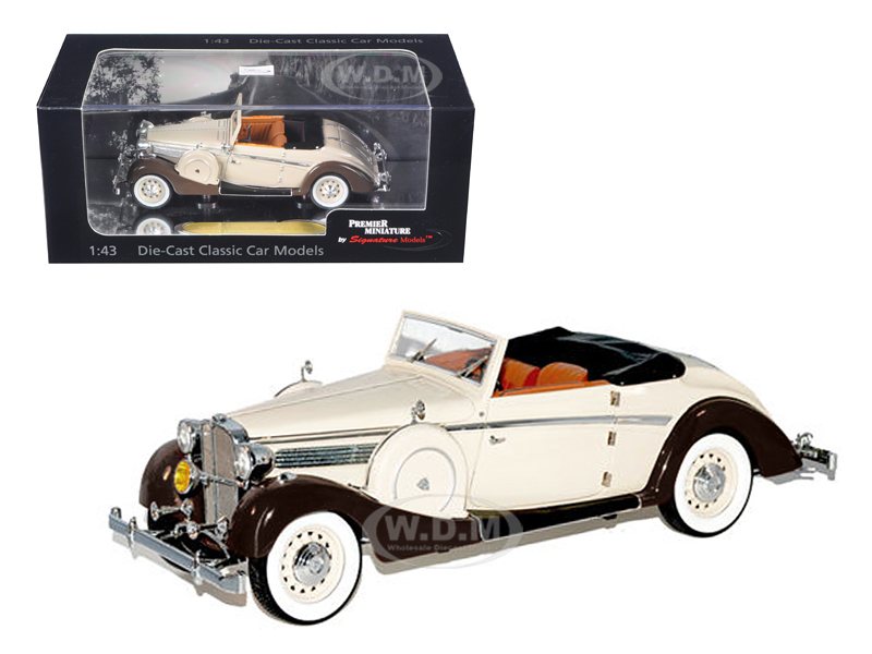 1937 Maybach SW38 Spohn 2 Doors Tan Convertible 1/43 Diecast Car Model by Signature Models