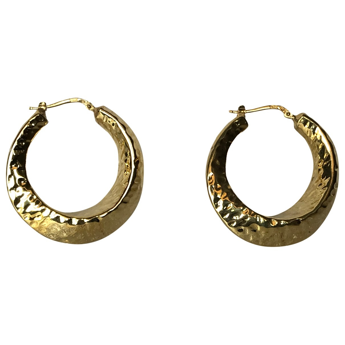 Non Signe / Unsigned \N OhrRing in  Gold Silber