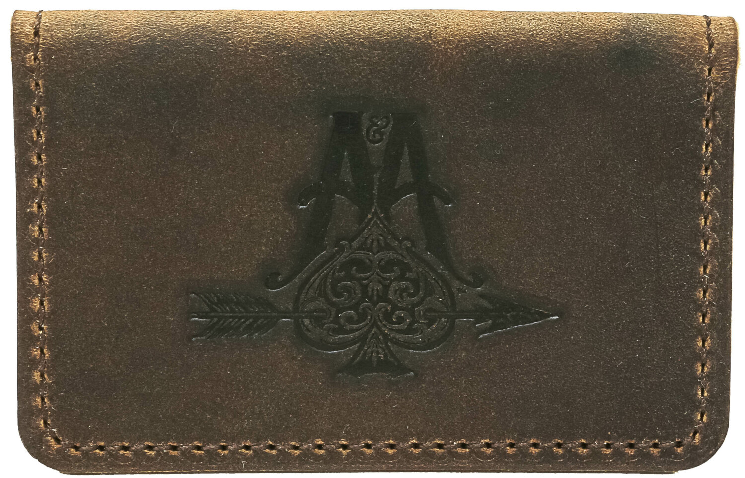 Business Card Holder, Professional Soft Brown Leather Wallet for Men Thin - Brown