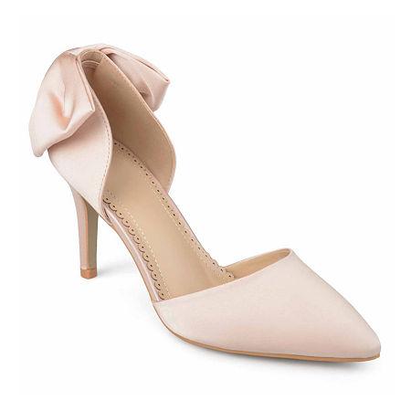 Journee Collection Womens Tanzi Pumps Stiletto Heel, 7 Medium, Pink