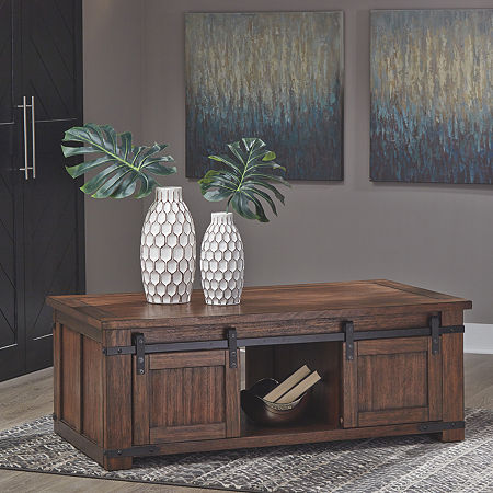 Signature Design by Ashley Budmore Coffee Table, One Size , Brown