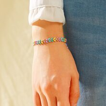 Armband mit bunter Kette 1 Stueck