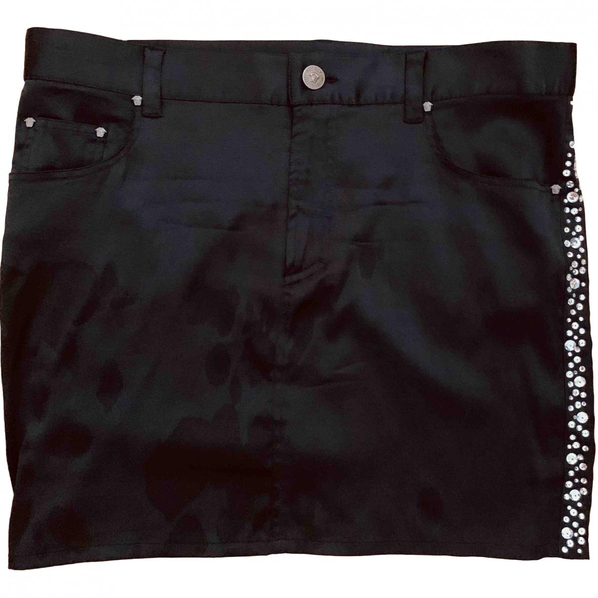 Versace \N Black Silk skirt for Women 40 IT