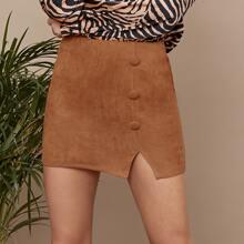 Faldas Particion Liso Casual