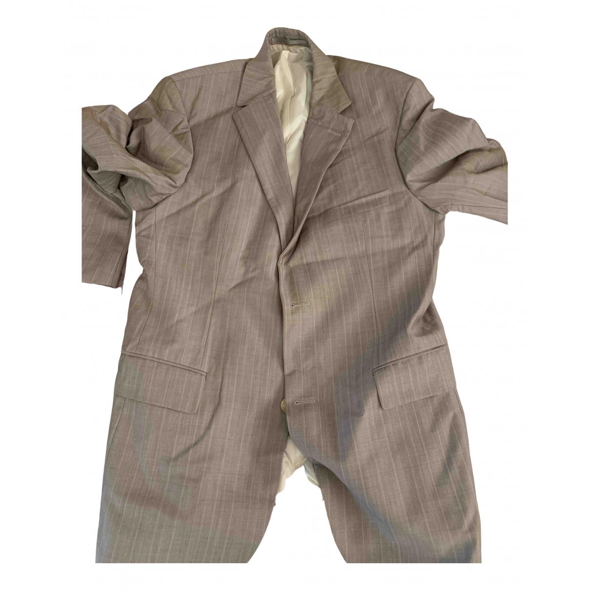 Boss \N Grey Wool Suits for Men 50 IT
