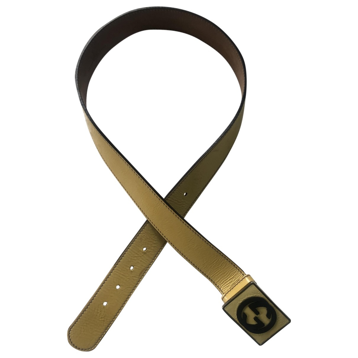Gucci \N Ecru Leather belt for Women 90 cm