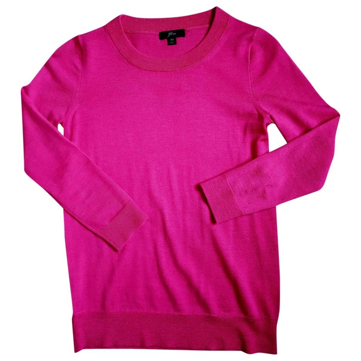 J.crew - Pull   pour femme en laine - rose