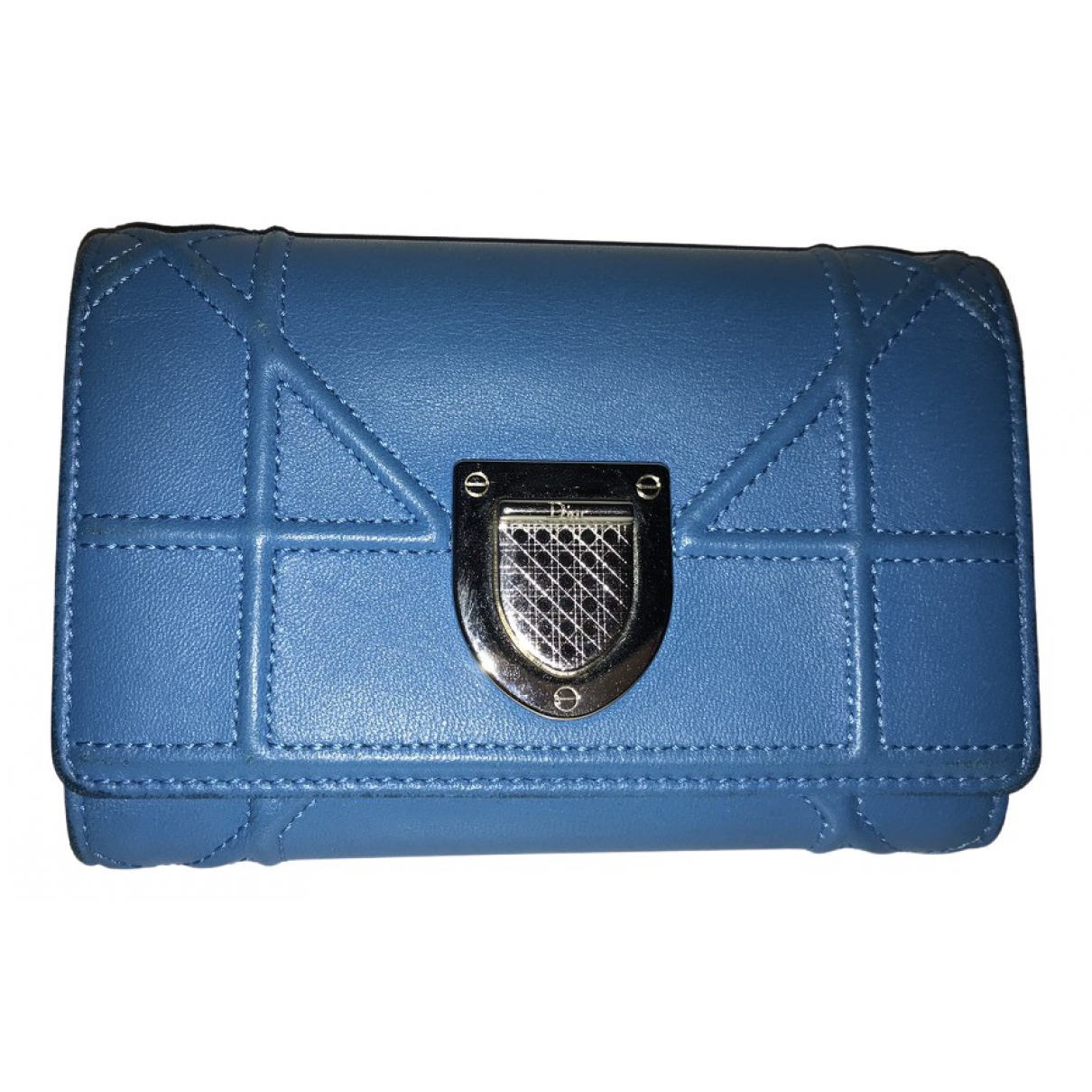 Dior Diorama Blue Leather Purses, wallet & cases for Women \N