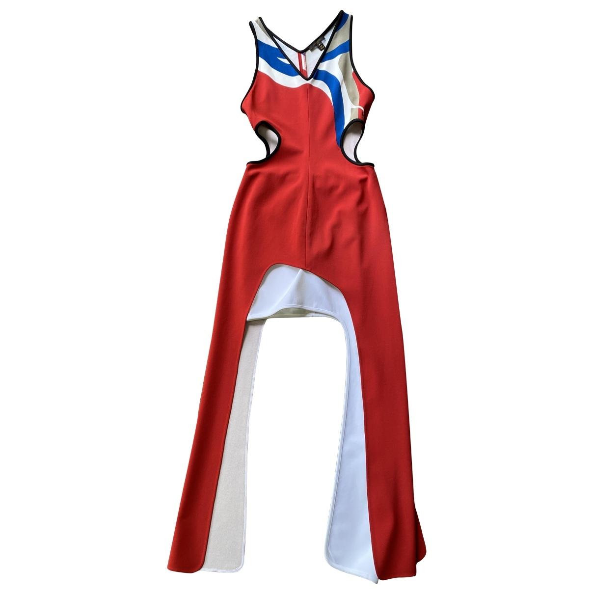 Louis Vuitton \N Kleid in  Rot Viskose