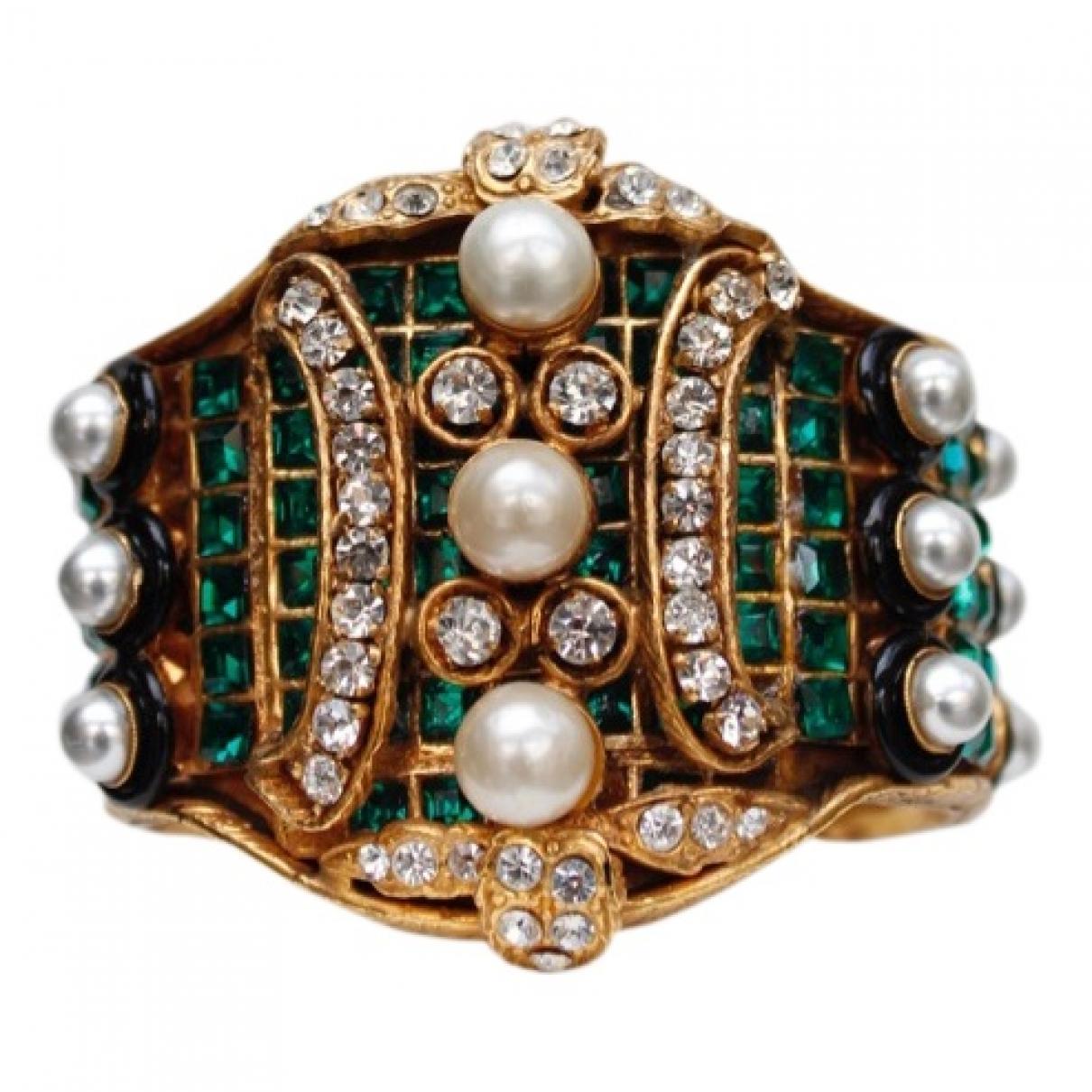 Chanel Baroque Armband in  Gruen Metall