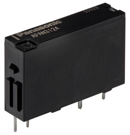 Panasonic , 5V dc Coil Non-Latching Relay SPNO, 5A Switching Current PCB Mount Single Pole