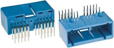 JAE , IL-AG5, 22 Way, 2 Row, Right Angle PCB Header