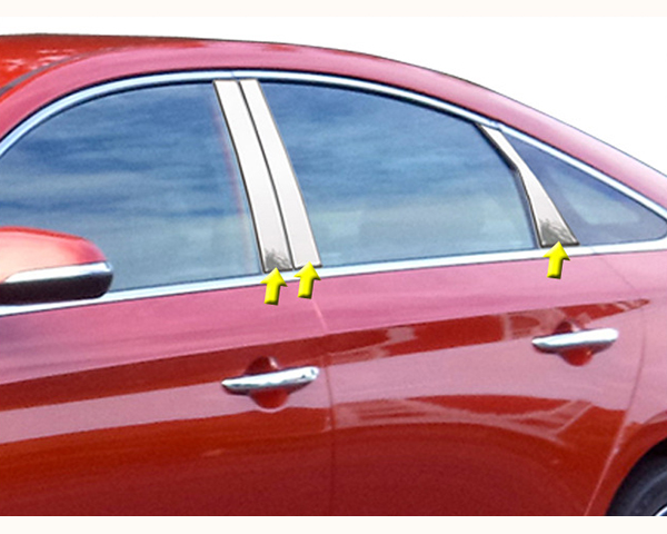 Quality Automotive Accessories 6-Piece Pillar Post Trim Kit Hyundai Sonata 2015