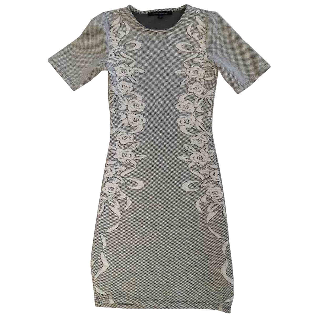 French Connection - Robe   pour femme en coton - gris