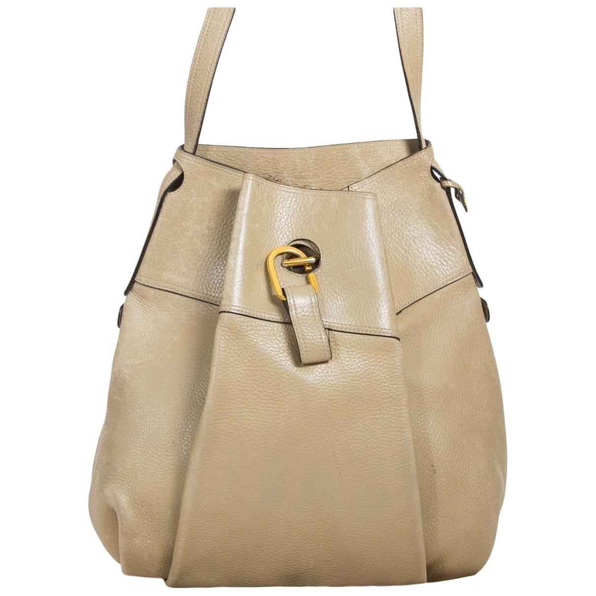 Delvaux \N Handtasche in  Beige Leder