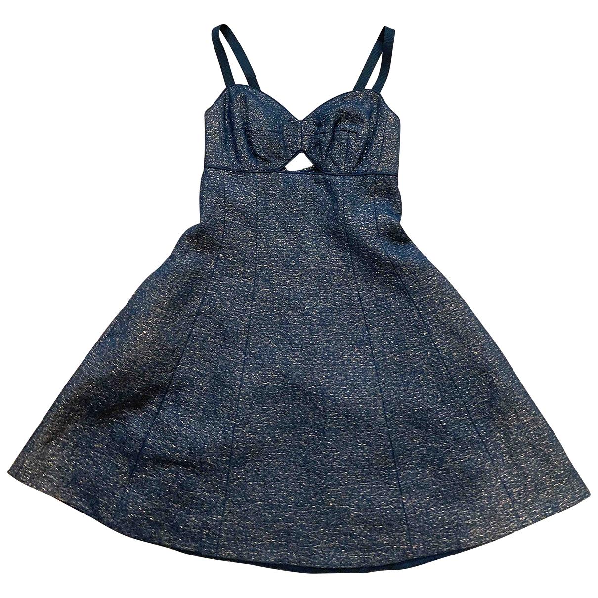 Club Monaco - Robe   pour femme en coton - metallise