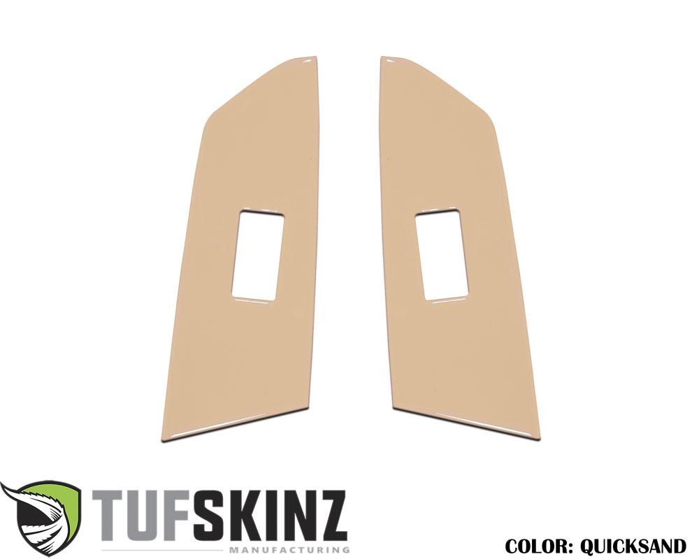 Tufskinz TUN029-GTN-G Crewmax Rear Door Switch Panel Accent Trim Fits 14-up Toyota Tundra 2 Piece Kit Quicksand Tan