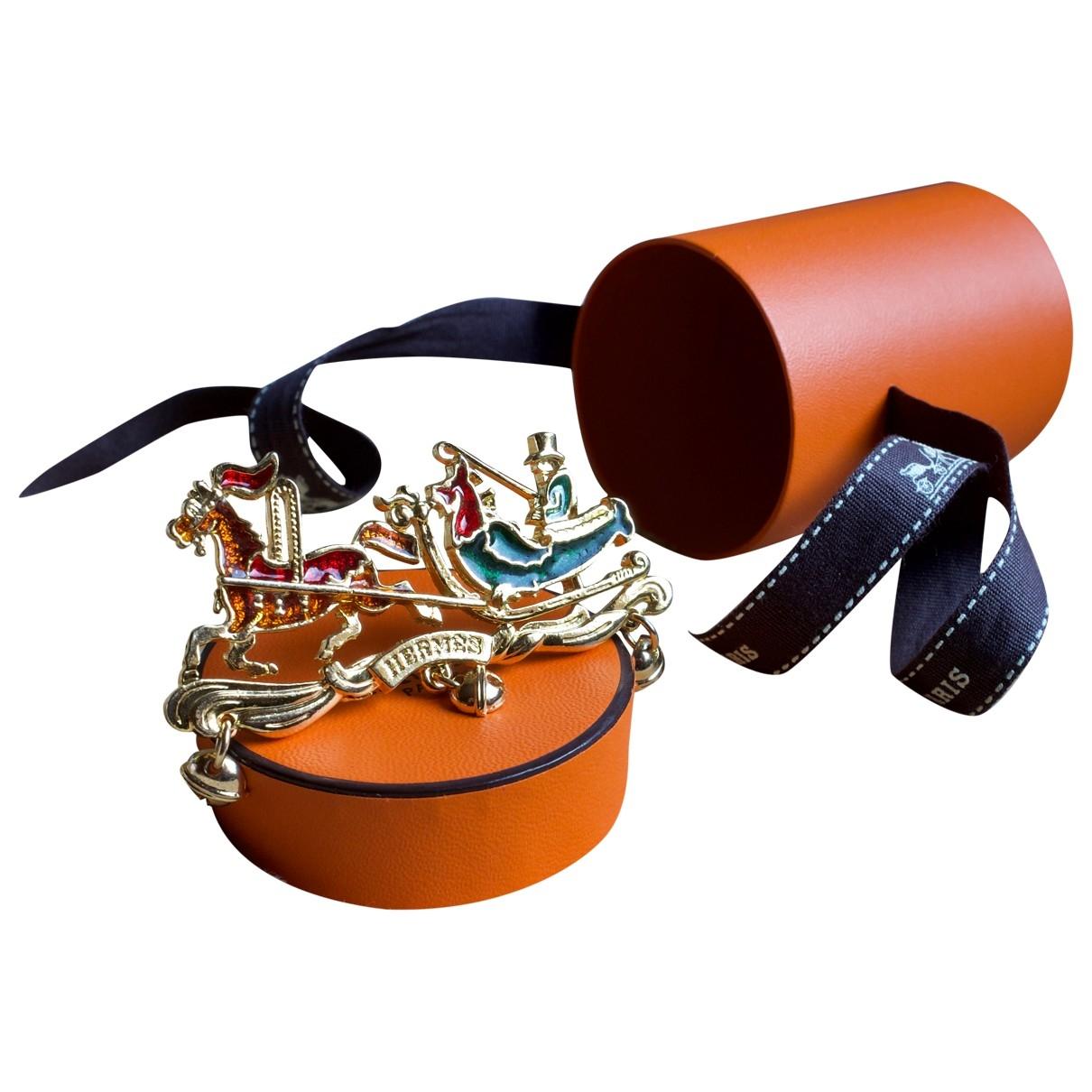 Hermes \N Brosche in  Bunt Metall