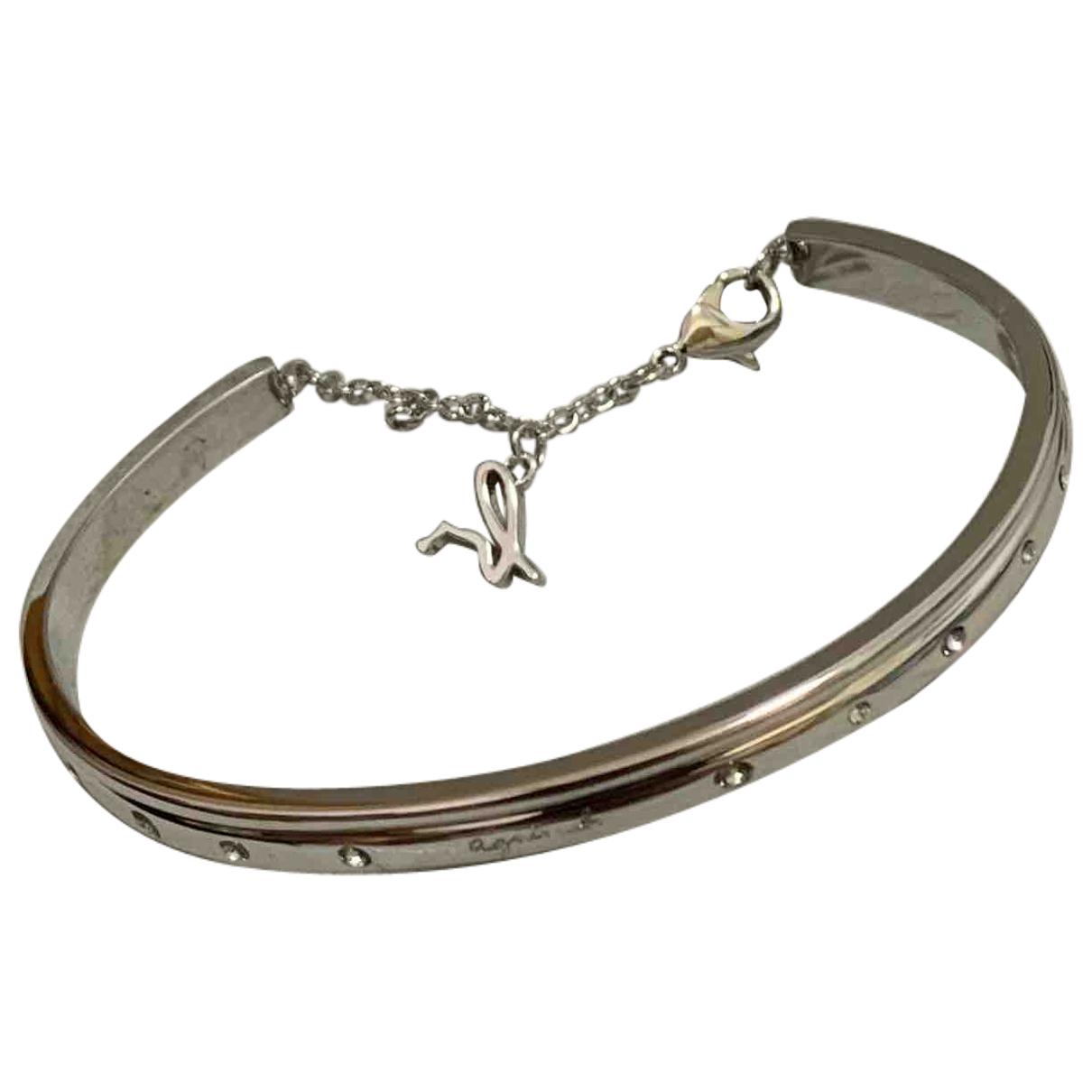 Agnes B. - Bracelet   pour femme en metal - argente