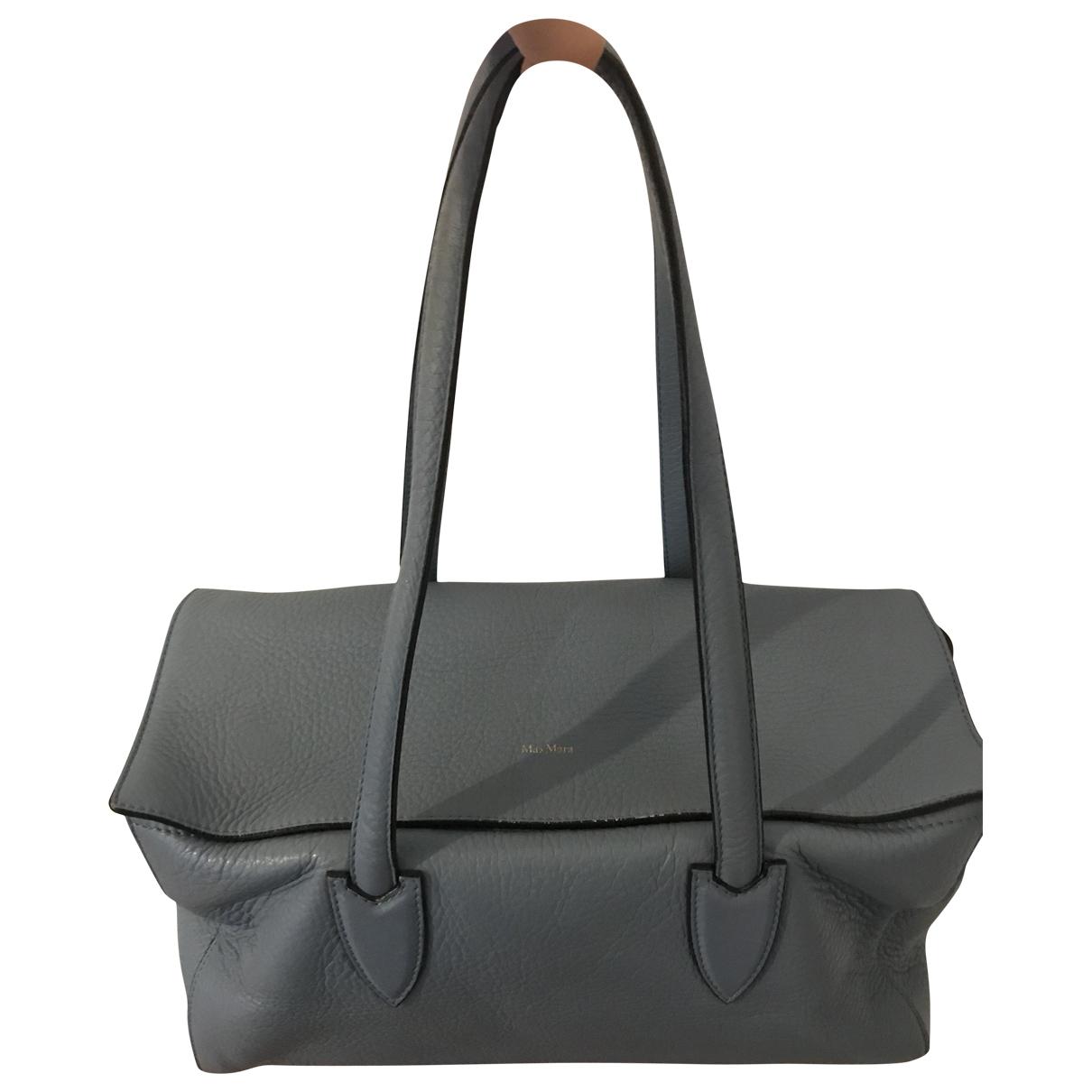 Max Mara \N Handtasche in  Blau Leder