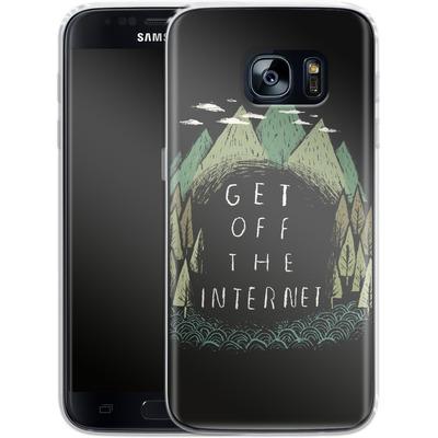 Samsung Galaxy S7 Silikon Handyhuelle - Get Off The Internet von Louis Ros