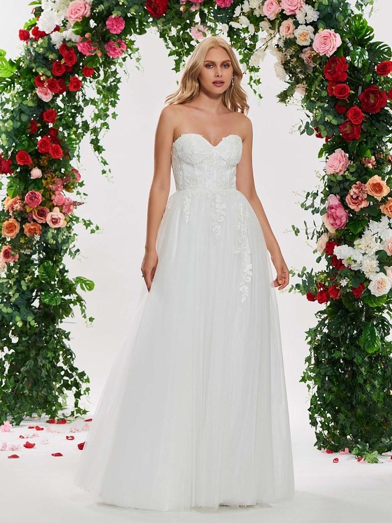 Ericdress Sweetheart Appliques Garden Wedding Dress