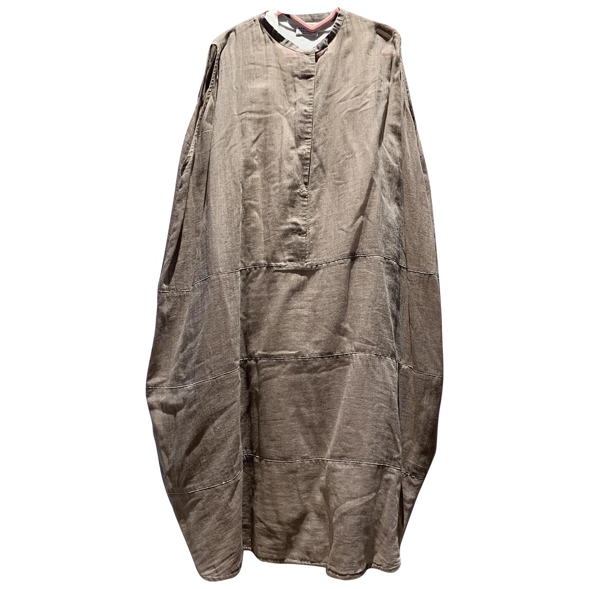 Brunello Cucinelli N Khaki Cotton dress for Women 42 IT