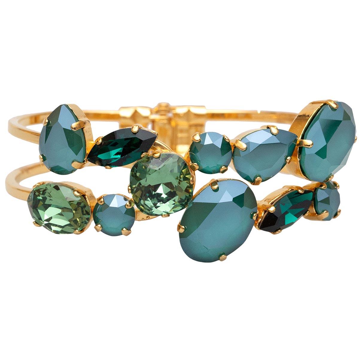 - Bracelet   pour femme en cristal - vert
