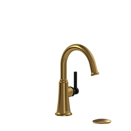 Momenti MMRDS01LBGBK-05 Single Hole Lavatory Faucet with L Lever Handle 0.5 GPM  in Brushed