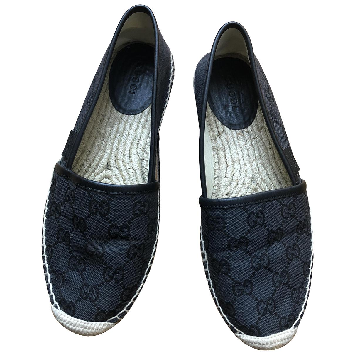 Gucci - Espadrilles   pour femme en toile - noir