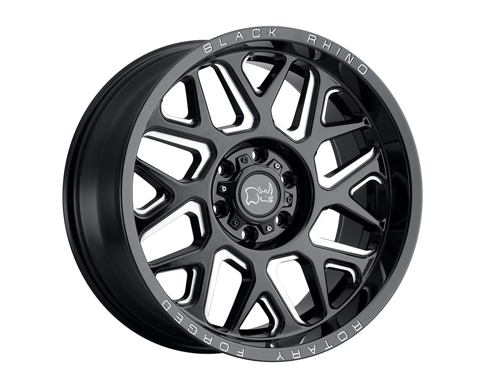 Black Rhino Reaper Wheel 20x9.5  6x139.7 12mm Gloss Black w/Milled Spokes