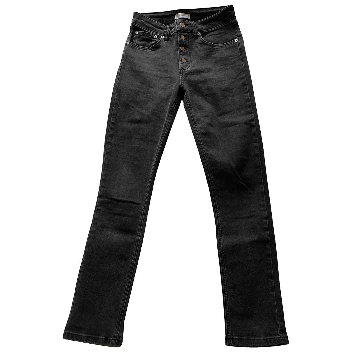 Anine Bing \N Grey Cotton - elasthane Jeans for Women 27 US
