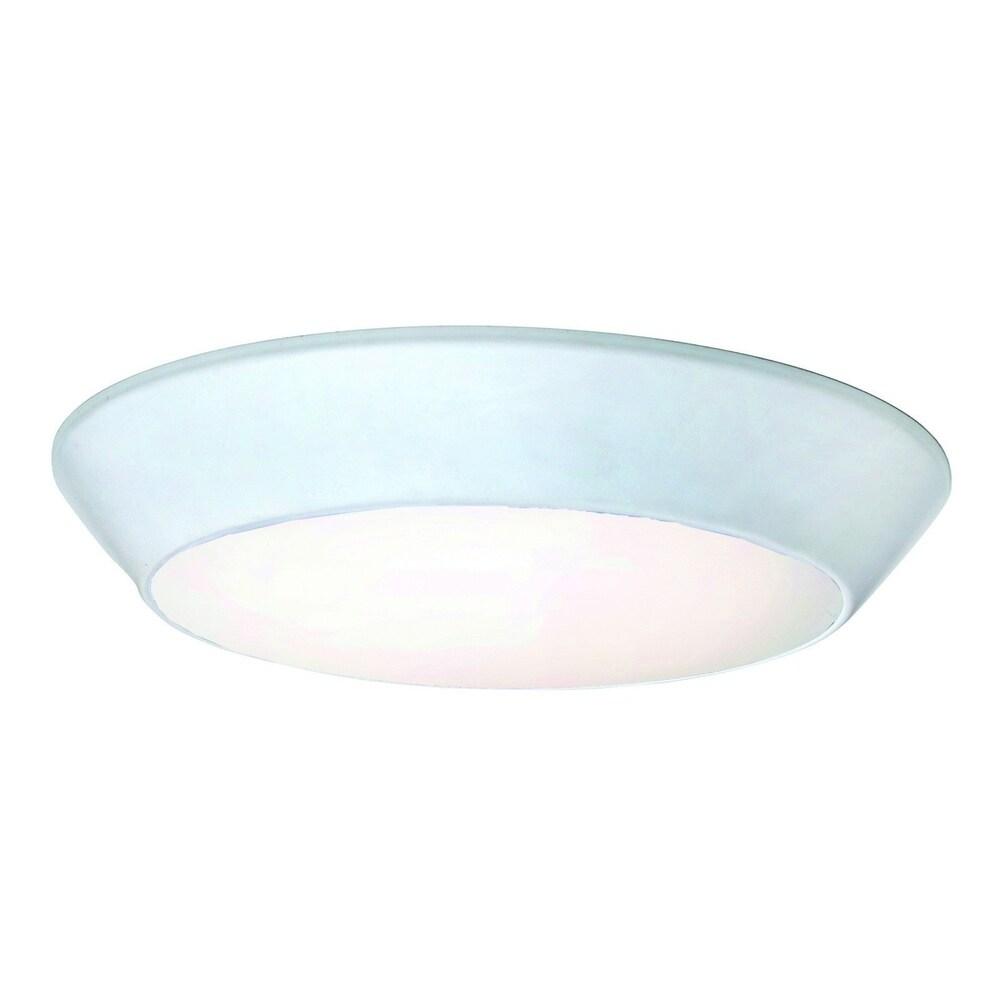 Maxim White Convert White Shade 1-light Flush Mount Light (Convert LED Flush Mount)