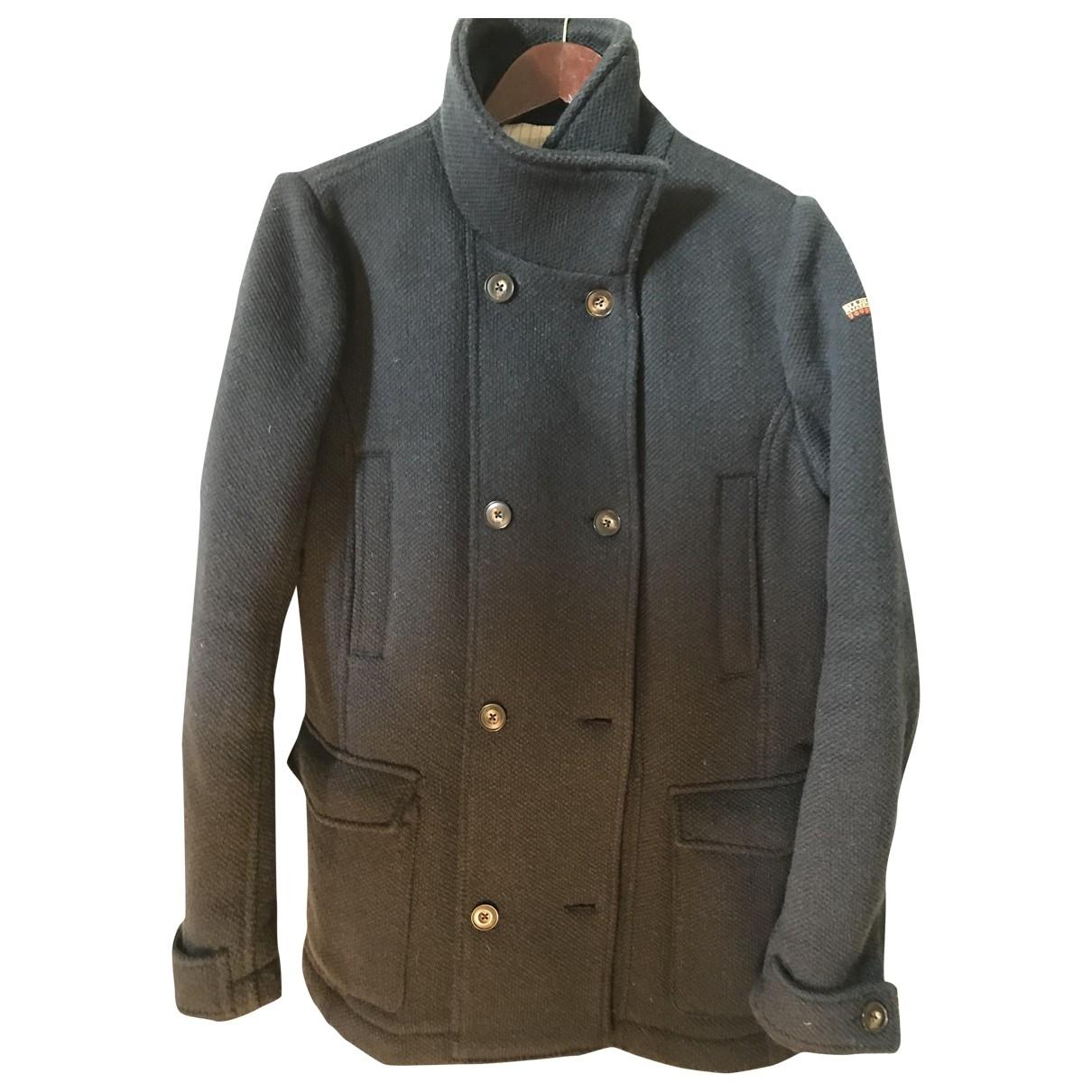 Napapijri - Manteau   pour femme en laine - bleu