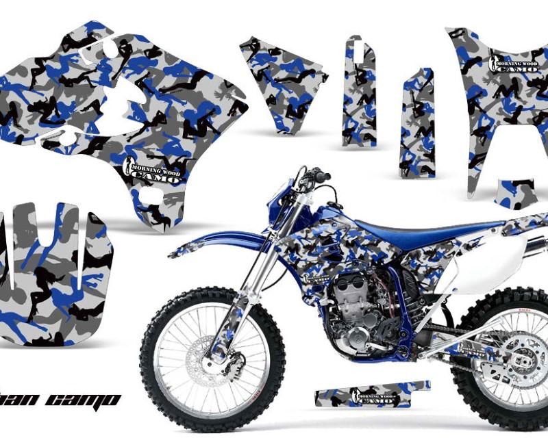 AMR Racing Dirt Bike Graphics Kit Decal Wrap For Yamaha WR250F WR450F 2003-2004áURBAN CAMO BLUE