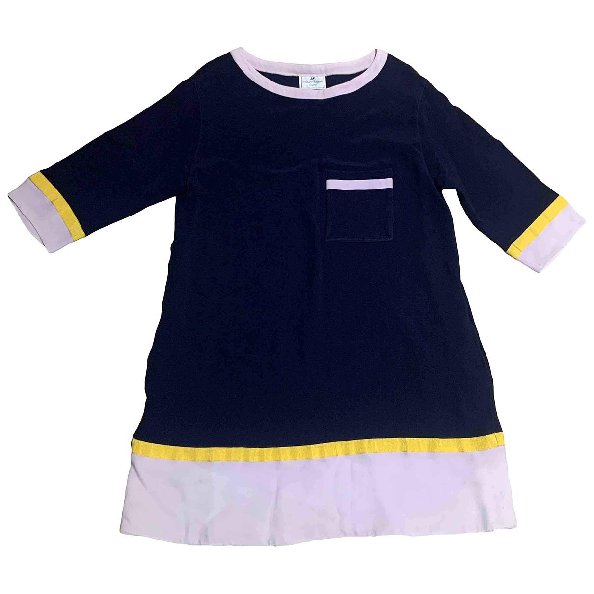 Courreges \N Kleid in  Blau Viskose