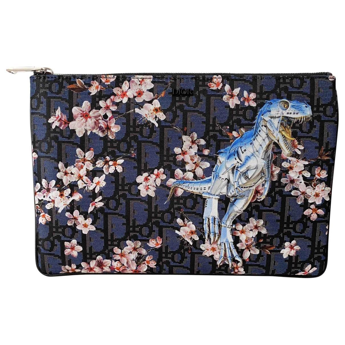 Dior - Petite maroquinerie   pour homme en toile - bleu