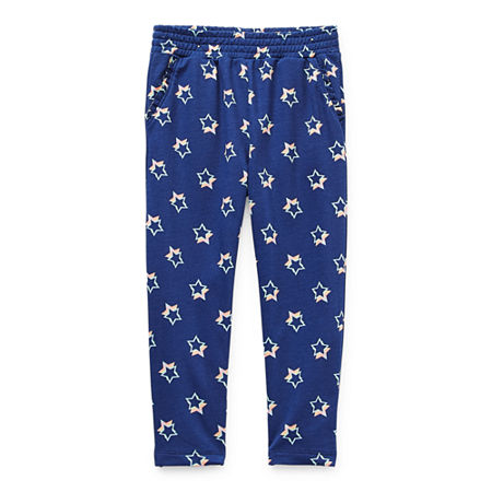 Okie Dokie Toddler Girls Straight Jogger Pant, 2t , Blue