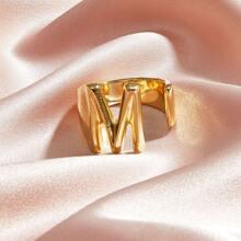 1pc Letter Design Cuff Ring