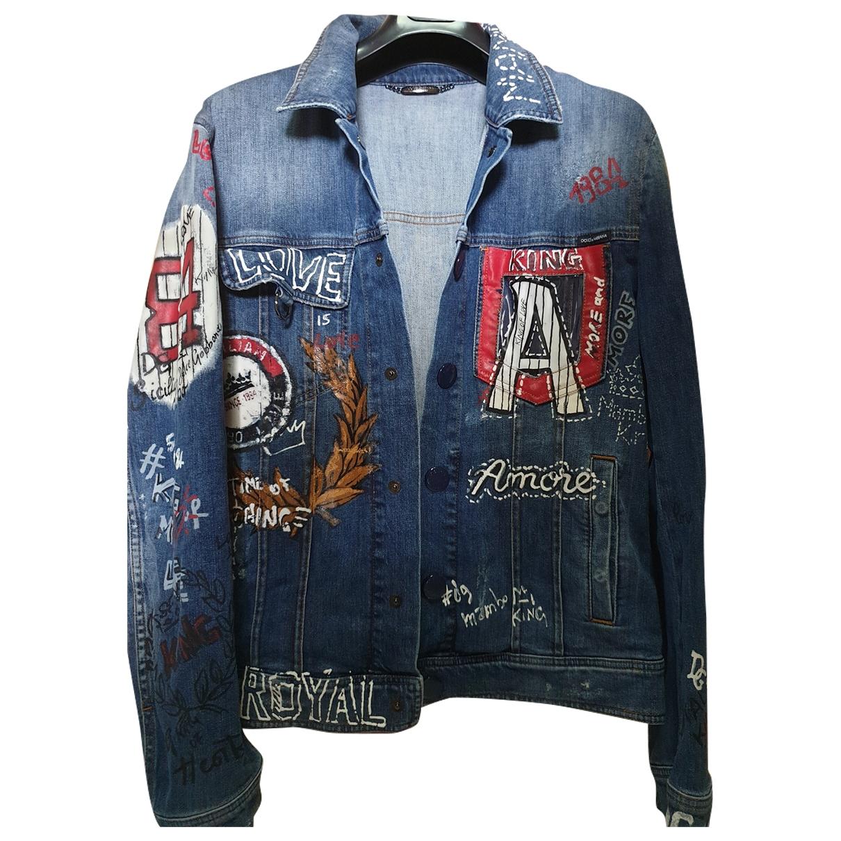 Dolce & Gabbana \N Blue Denim - Jeans jacket  for Men M International