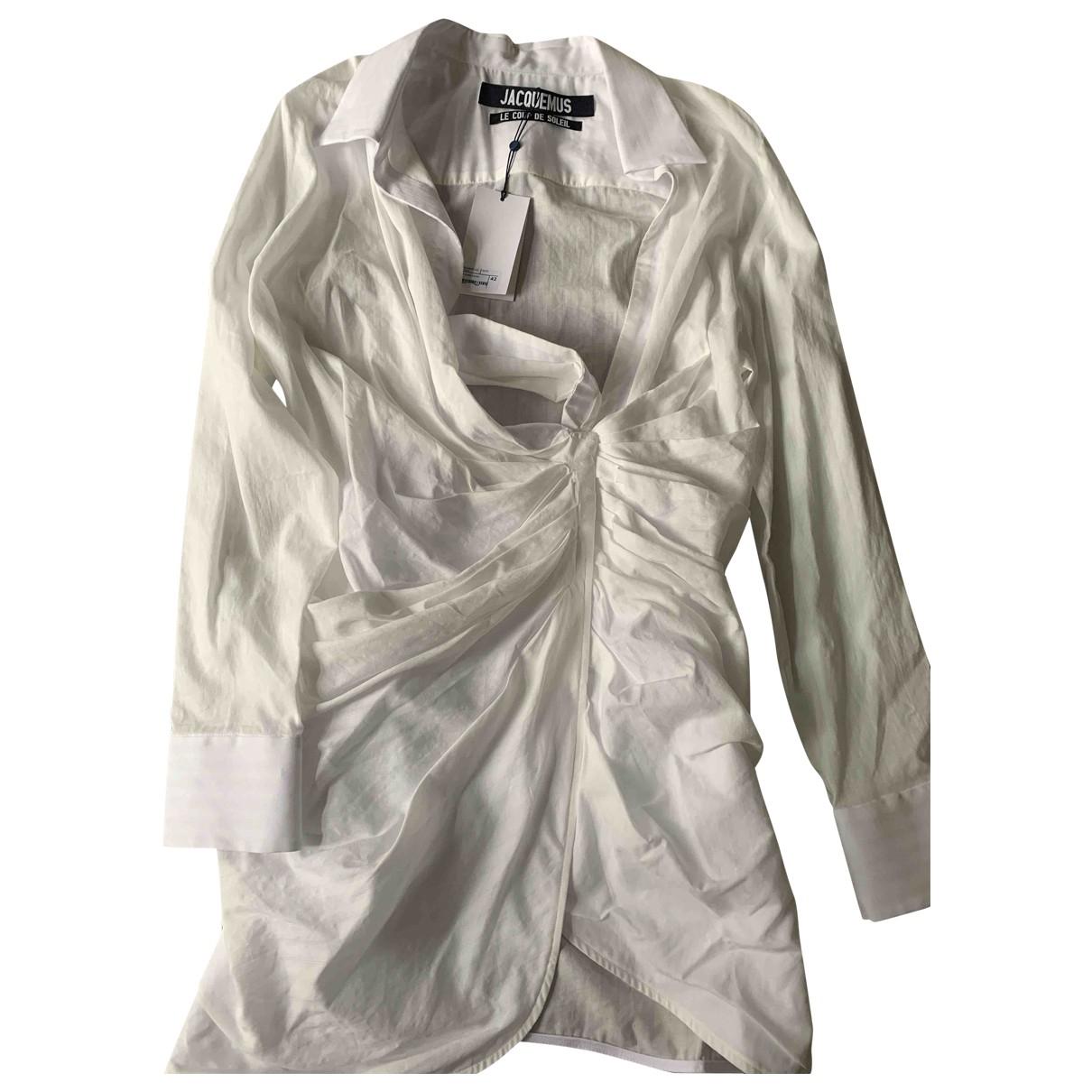 Jacquemus - Robe   pour femme en coton - blanc