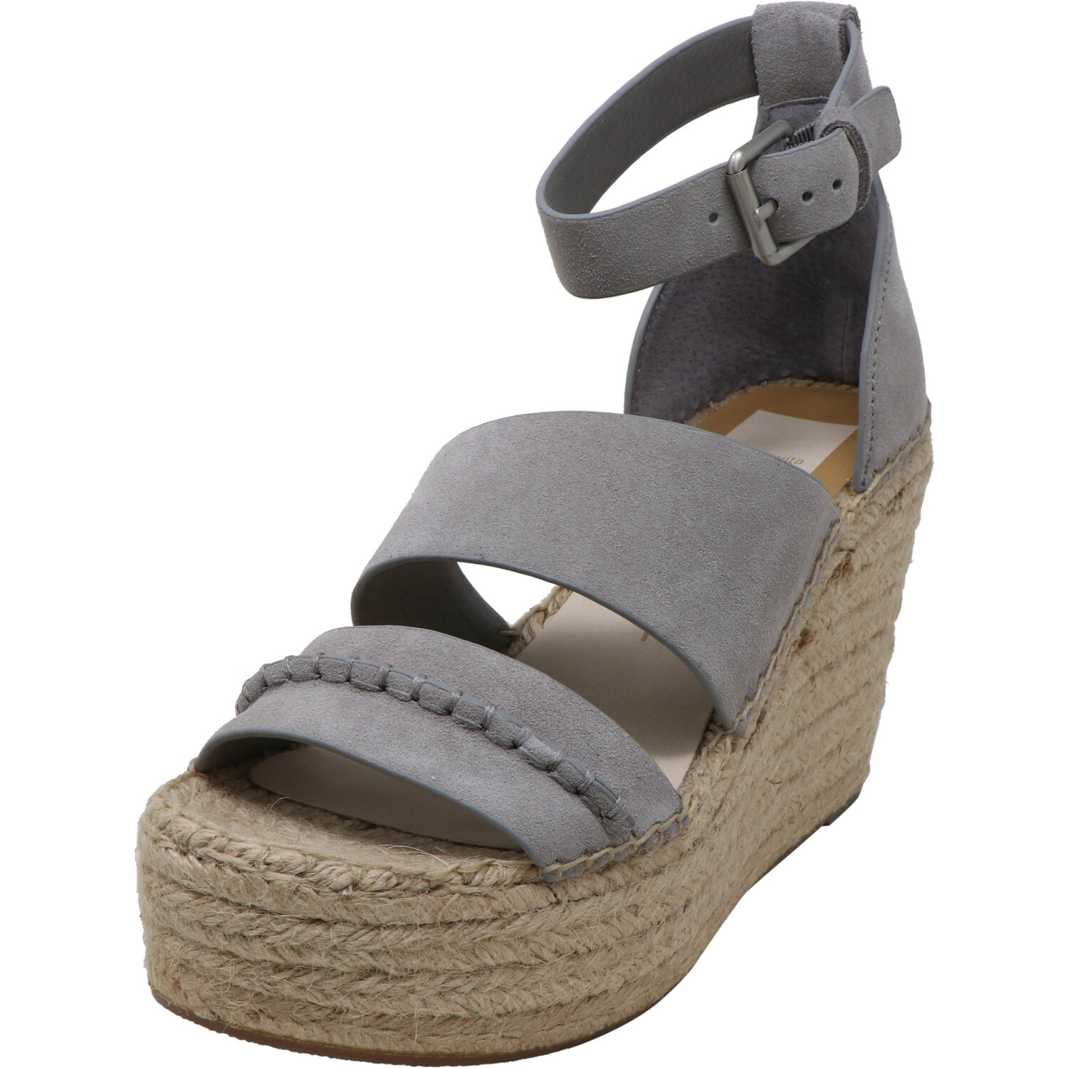 Dolce Vita Women's Simi Suede Smoke Ankle-High Wedged Sandal - 10M