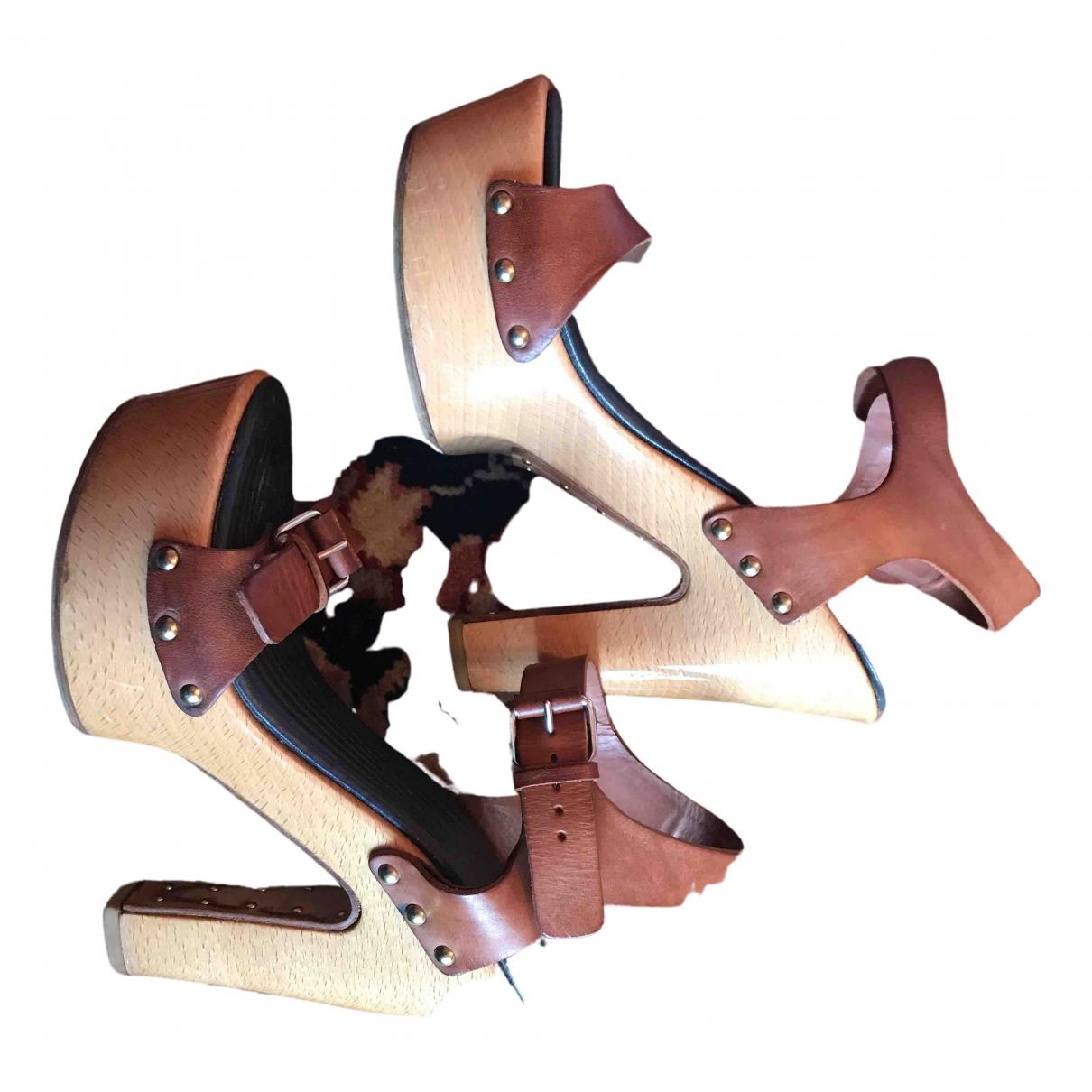 Givenchy - Escarpins   pour femme en cuir - camel