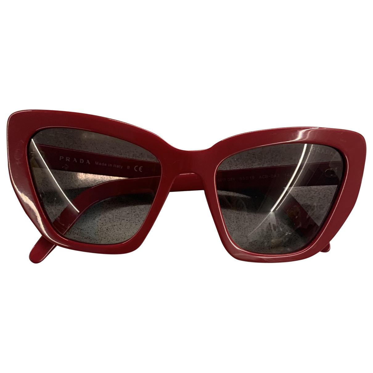 Prada - Lunettes   pour femme - rouge