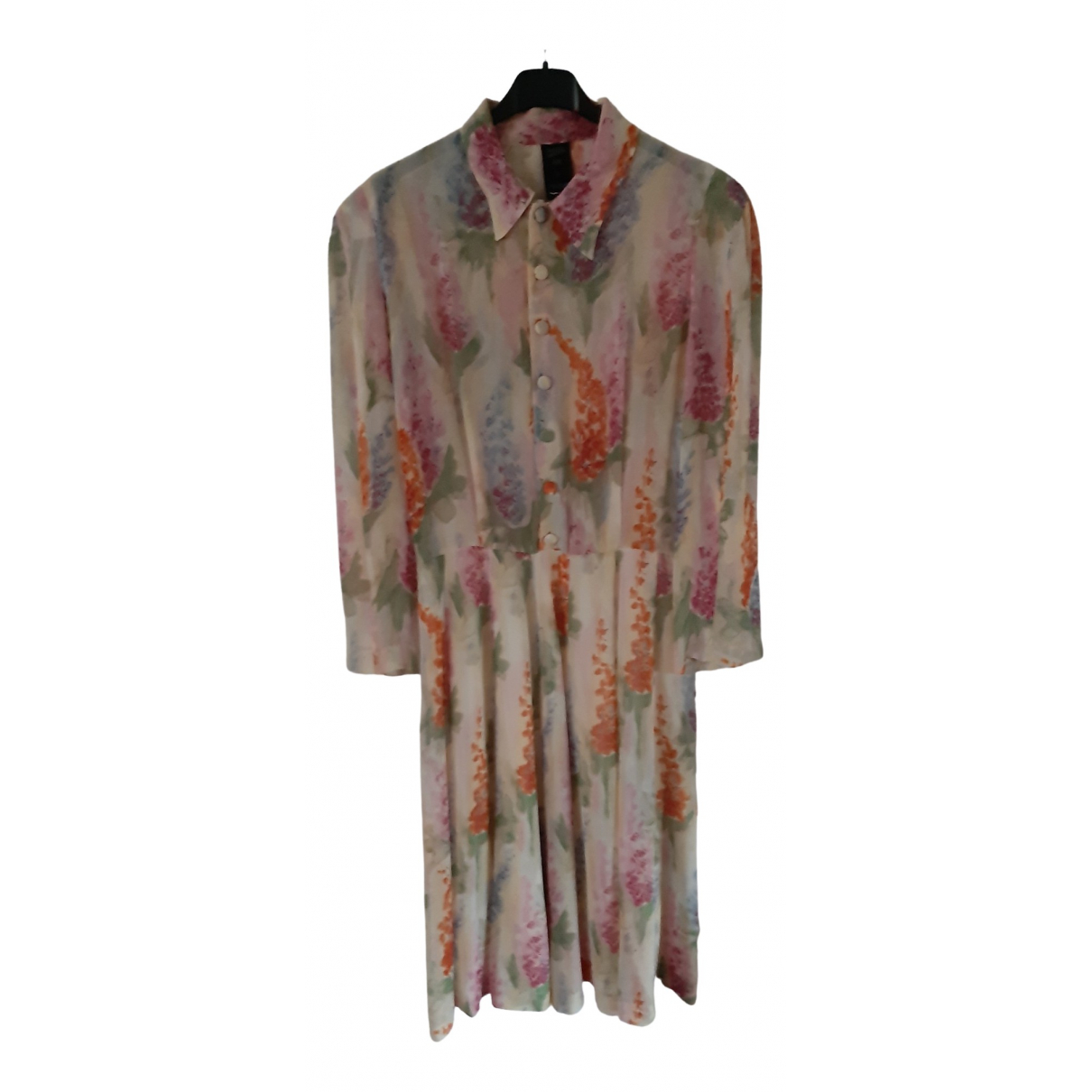 Jean Paul Gaultier \N Beige Silk dress for Women 46 IT