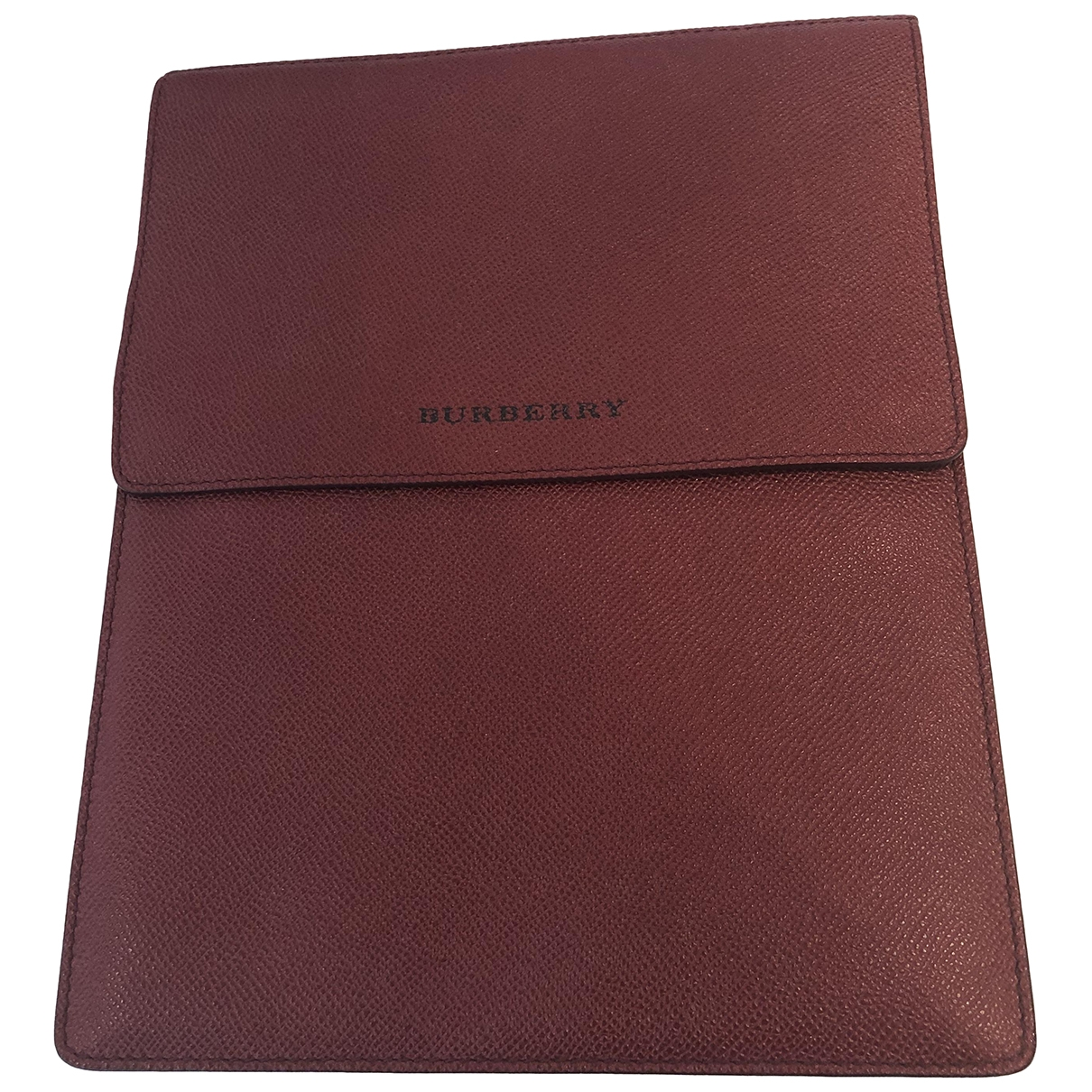 Burberry \N Accessoires in  Rot Leder